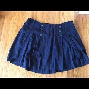 Free People navy blue mini skirt